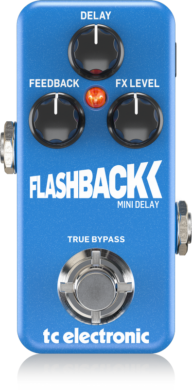 TC ELECTRONIC FLASHBACK MINI DELAY Ultra-Compact Delay Pedal with Built-In TonePrints* and Audio Tapping