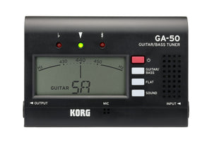 Korg Guitar and Bass Tuning Quinta Flat Tuning Drop Tuning Tuner GA50-KRG - The Guitar World