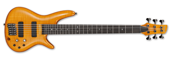 Ibanez Gerald Veasley 6 String Electric Bass Guitar IN Amber GVB36/AM - The Guitar World