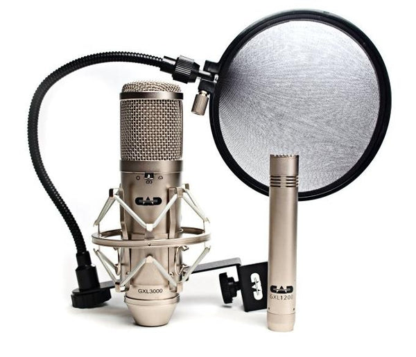 CAD Studio Pack W/ 1 Multi-Pattern Condenser Microphone 1 Cardioid Condenser Microphone AND 1 Pop Filter GXL3000SP - The Guitar World