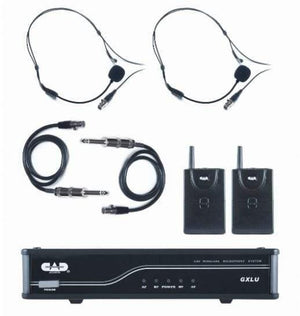 CAD UHF Wireless Dual Bodypack Microphone System L Frequency Band GXLUBBL - The Guitar World