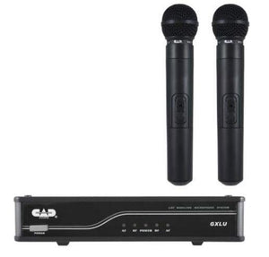 CAD Uhf Wireless Dual Cardioid Dynamic Handheld Microphone System K/L Frequency Band GXLUHHK - The Guitar World