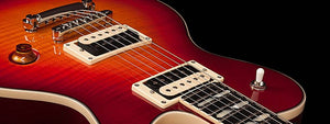 Godin 042609 Cherry Burst Flame Summit Classic Supreme LTD with Lollar El Rayo - The Guitar World