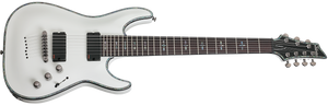 Schecter Hellraiser C-7 7-string Electric Guitar In White In Gloss White Finish 1810