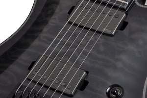 Schecter Hellraiser Hybrid PT-7 in Trans Black Burst TBB SKU 1935 - The Guitar World