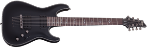 Schecter Hellraiser C-7 7 String Passive in Satin Black SBK SKU 1942 - The Guitar World