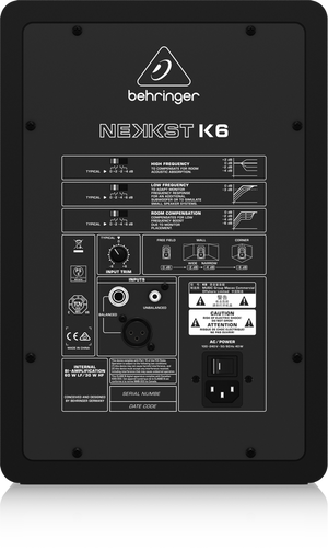 "BEHRINGER NEKKST K6 Audiophile Bi-Amped 6"" Studio Monitor with Advanced Waveguide Technology - The Guitar World"
