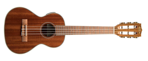 KALA 6 String Tenor Gloss Mahogany Ukulele with EQ KA-6E