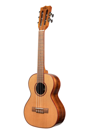 KALA Solid Cedar Acacia 5-String Tenor Ukulele KA-ATP5-CTG - The Guitar World