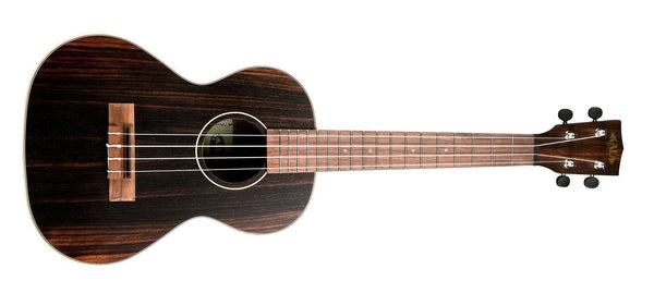 KALA Striped Ebony Tenor Ukulele KA-EBY-T - The Guitar World