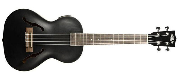 KALA Metallic Black Archtop Tenor Ukulele KA-JTE-MTB Ukulele - The Guitar World