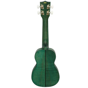 KALA Etic Mahogany Soprano Ukulele - Green KA-SEMG - The Guitar World