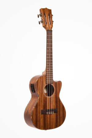 KALA Solid Mahogany Tenor Cutaway w/EQ Ukulele KA-SMHTE-C - The Guitar World