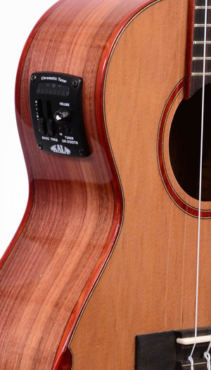 KALA Solid Cedar Pau Ferro Tenor Ukulele with Case KA-SPT-CTG-CE - The Guitar World