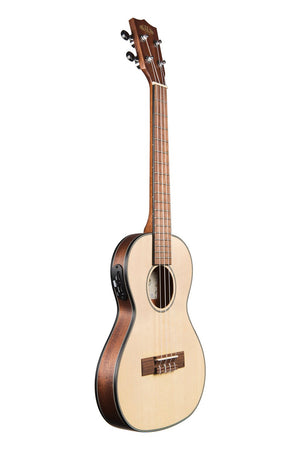 KALA Solid Spruce Travel Tenor with EQ Ukulele KA-SSTU-TE
