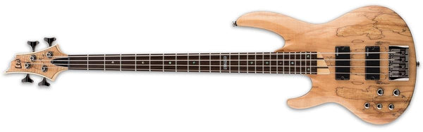 ESP LTD Spalted Maple Natural Satin Left-handed Bass Guitar LB204SMNSLH - The Guitar World