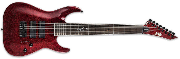 ESP LTD 8-STRING BARITONE RED SPARKLE 8-STRING GUITAR LSC608BRSP - The Guitar World