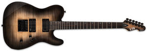 ESP LTD TE-1000 Evertune Electric Guitar Black Natural Burst LTE1000ETFMBLKNB - The Guitar World