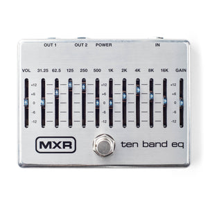 Dunlop MXR Ten Band EQ Pedal - Silver M108S - The Guitar World
