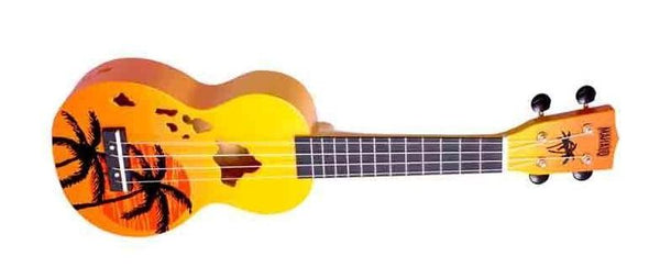Mahalo Ukuleles Hawaii Orange Burst Ukulele MD1HA-ORB - The Guitar World