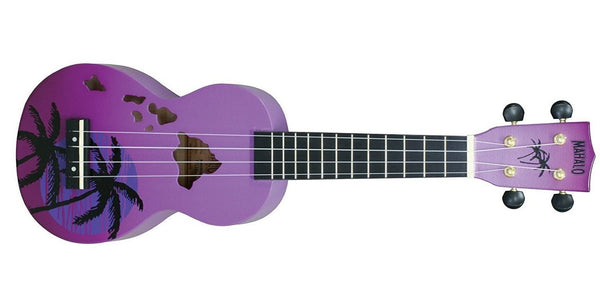 Mahalo Ukuleles Hawaii Ukulele Purple Burst MD1HA-PPB - The Guitar World