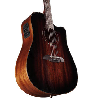ALVAREZ MASTERWORKS MDA66CESHB SOLID MAHOGANY DREADNOUGHT ELECTRIC ACOUSTIC IN SHADOWBURST GLOSS FINISH - The Guitar World