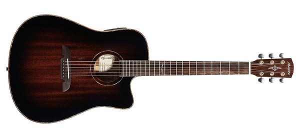 ALVAREZ MASTERWORKS MDA66CESHB SOLID MAHOGANY DREADNOUGHT ELECTRIC ACOUSTIC IN SHADOWBURST GLOSS FINISH