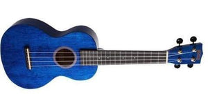 Mahalo Ukuleles Hano Concert Ukulele Translucent Blue MH2-TBU - The Guitar World