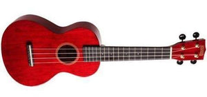 Mahalo Ukuleles Hano Series Concert Ukulele Transparent Red MH2-TWR - The Guitar World