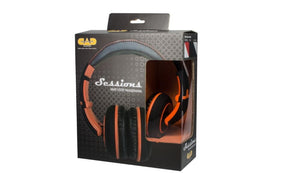 CAD Closed-back Studio Headphones - Black -orange - Two Cables Two Sets Earpads MH510OR - The Guitar World