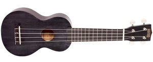 Mahalo Ukuleles JAVA Soprano Ukulele with Bag in Transparent Black MJ1-TBK