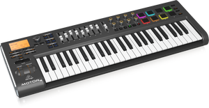 BEHRINGER MOTOR 49 49-Key USB/MIDI Master Controller Keyboard with Motorized Faders and Touch-Sensitive Pads - The Guitar World