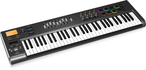 BEHRINGER MOTOR 61 61-Key USB/MIDI Master Controller Keyboard with Motorized Faders and Touch-Sensitive Pads - The Guitar World