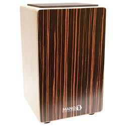 Mano Percussion Ebony Stripes Cajon with Foam Seat Pad MP-CAJ100-ES