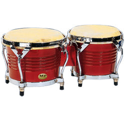 Mano Percussion Red Wood 7 & 8 inch Bongo Set MP1778-RW