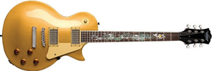 Oscar Schmidt Gold Top Solid Body LP-Style Electric Guitar w Serpentine Neck OE20SERPENTG-A - The Guitar World