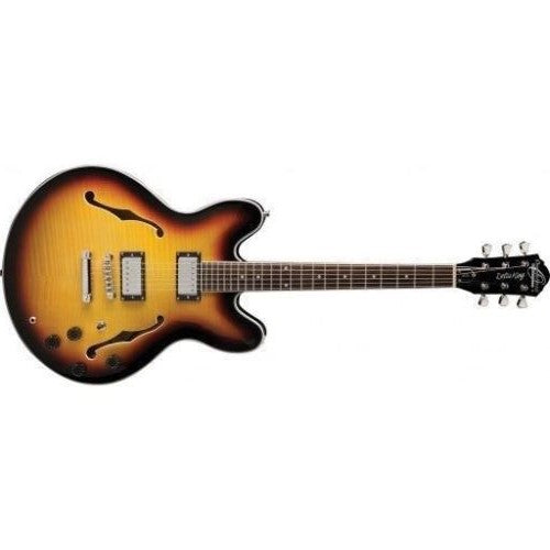 Oscar Schmidt Delta Blues 335-Style Semi-Hollow Body Electric Guitar, Tobacco Sunburst OE30TS-A