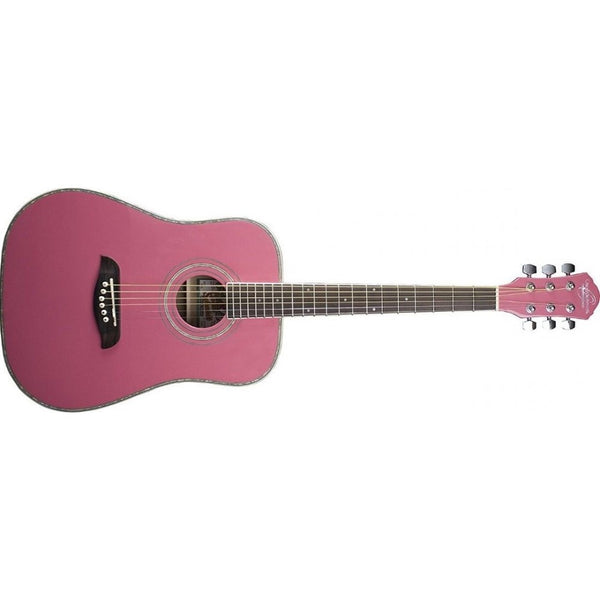 Oscar Schmidt 3/4 Size Acoustic Guitar - Pink OG1P - The Guitar World