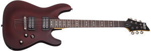 Schecter OMEN-6 String Electric Guitar - Satin Walnut 2062-SHC - The Guitar World