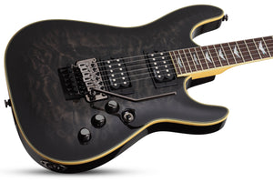 Schecter Omen Extreme-FR in See-Thru Black STBLK SKU 2027 - The Guitar World