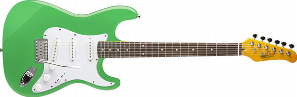 Oscar Schmidt Seafoam Green Solid Body Strat-Style Electric Guitar OS-300-SFG-A - The Guitar World