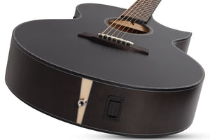 SCHECTER Orleans Stage-7 Acoustic 7 STRING Satin See Thru Black - 3709 - The Guitar World
