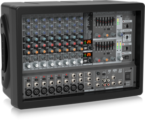 BEHRINGER EUROPOWER PMP1680S 1600-Watt 10-Channel Powered Mixer with Dual Multi-FX Processor and FBQ Feedback Detection System - The Guitar World