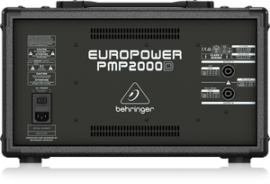 BEHRINGER EUROPOWER PMP2000D 2000-Watt 14-Channel Powered Mixer with Klark Teknik Multi-FX Processor and Wireless Option - The Guitar World