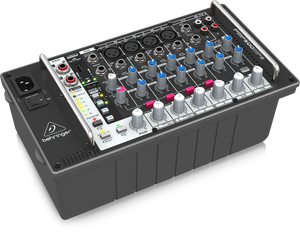 BEHRINGER EUROPOWER PMP500MP3 Ultra-Compact 500-Watt 8-Channel Powered Mixer with MP3 Player, Reverb and Wireless Option