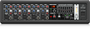 BEHRINGER EUROPOWER PMP550M 500-Watt 5-Channel Powered Mixer with KLARK TEKNIK Multi-FX Processor, FBQ Feedback Detection System and Wireless Option
