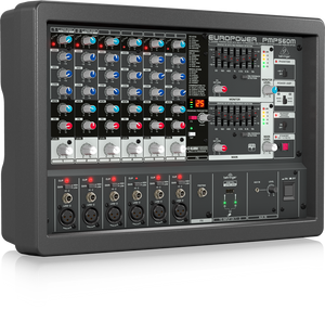 BEHRINGER EUROPOWER PMP560M 500-Watt 6-Channel Powered Mixer with KLARK TEKNIK Multi-FX Processor, Compressors, FBQ Feedback Detection System and Wireless Option