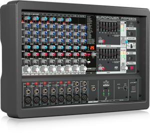 BEHRINGER EUROPOWER PMP580S 500-Watt 10-Channel Powered Mixer with KLARK TEKNIK Multi-FX Processor, Compressors, FBQ Feedback Detection System and Wireless Option - The Guitar World