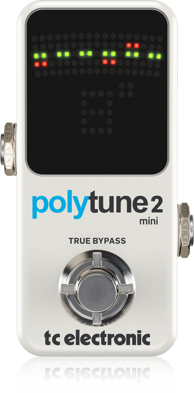 TC ELECTRONIC POLYTUNE 2 MINI Ultra-Compact Tuner with Polyphonic, Chromatic and Strobe Modes plus 109-LED Display for Ultimate Tuning Performance - The Guitar World