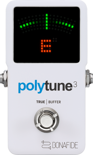 TC ELECTRONIC POLYTUNE 3 Ultra-Compact Polyphonic Tuner with Multiple Tuning Modes and Built-In BONAFIDE BUFFER